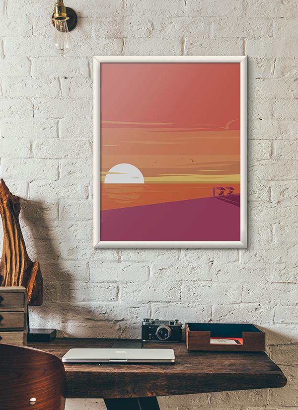 Art Deco Sunset - Mockup