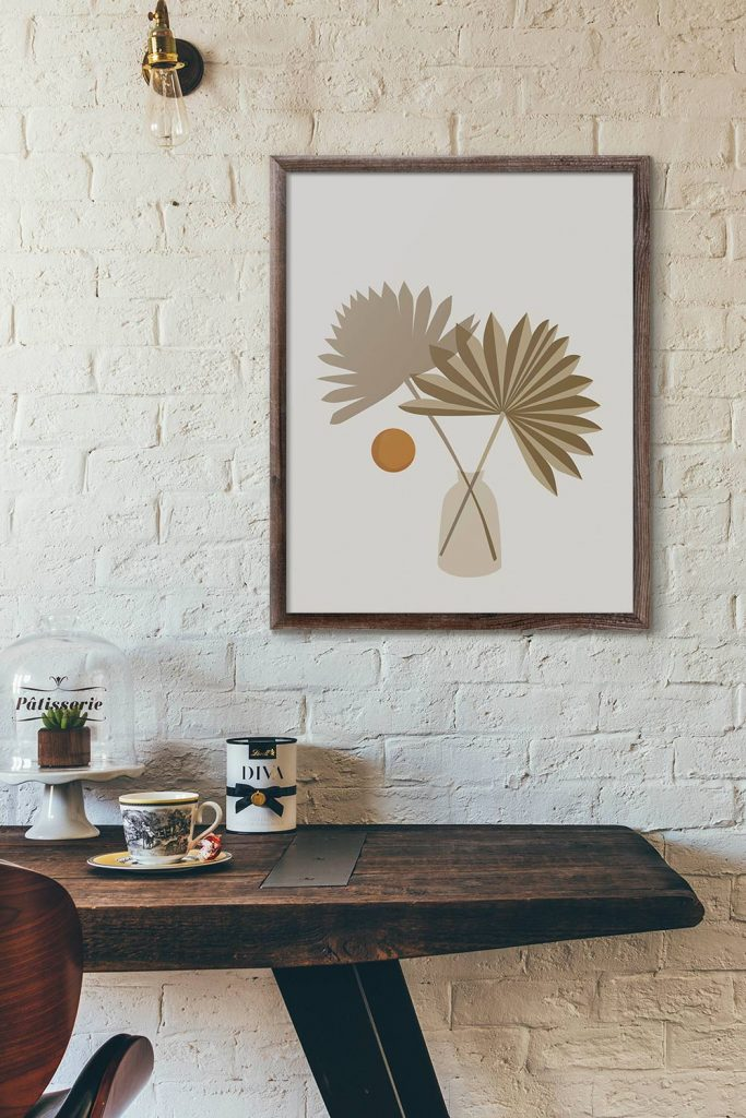 Modern Floral Abstract Poster Artwork by Coartive