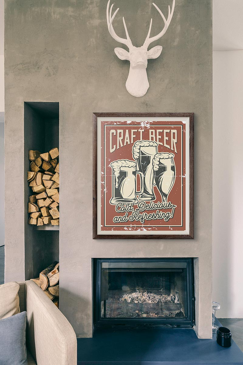 Craft Beer Wall Art available on Coartive
